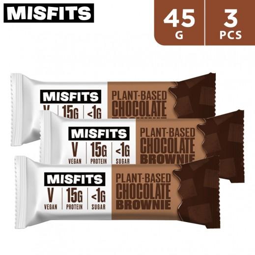 Misfits Chocolate Brownie Protein Bar 3 x 45 g