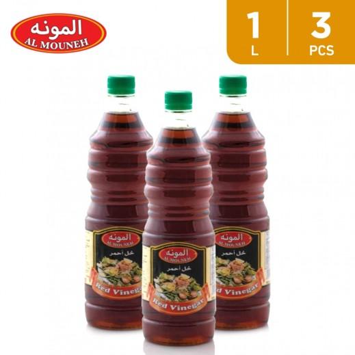 Al Mouneh Red Vinegar 3 x 1000 ml