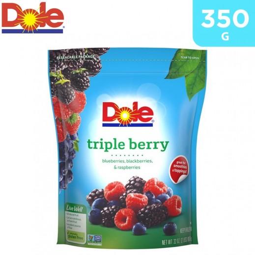 Dole Frozen Triple Berry Fruits 350 g