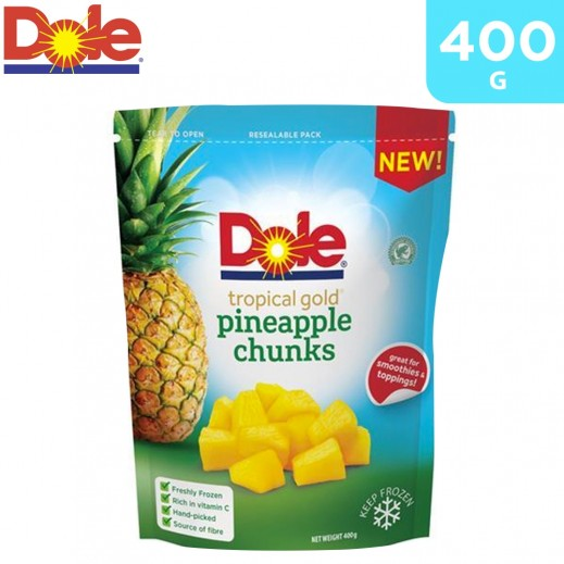 Dole Frozen Tropical Gold Pineapple Chunks 400 g