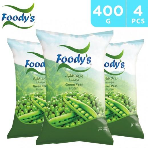 Foody's Frozen Green Peas 4 x 400 g
