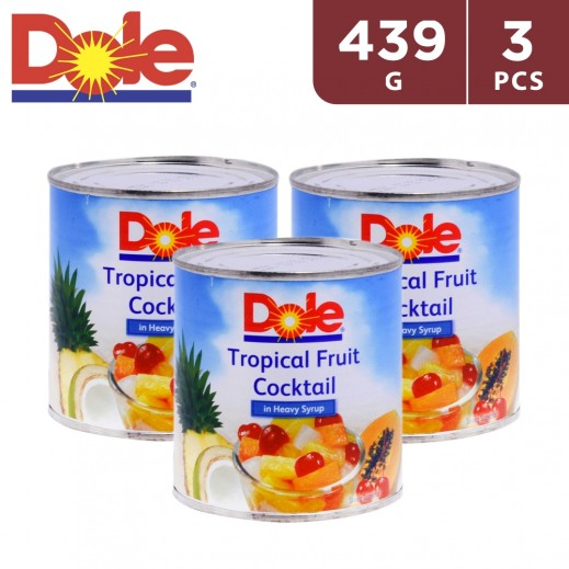 Dole Tropical Fruit Cocktail in Heavy Syrup (3 x 439 g)