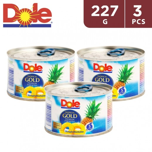 Dole Tropical Gold Premium Pineapple Slices (3 x 227 g)