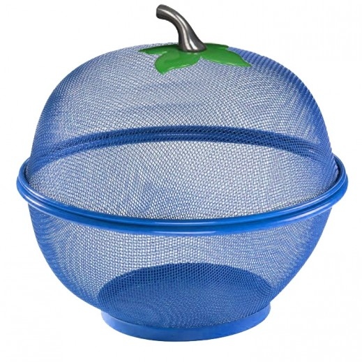 Mesh Wired Fruit Basket - Blue