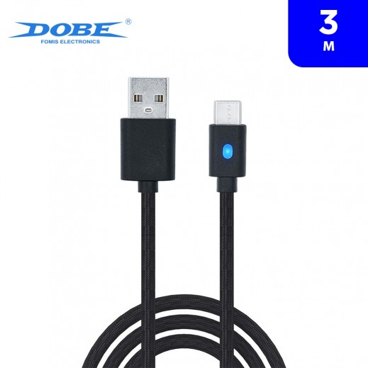 Dobe 3m PS5 Type-C Charging Cable - Black