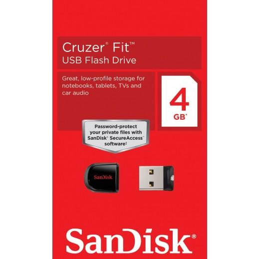 Sandisk USB Cruzer Fit 4 GB  SDCZ33-004G-B35