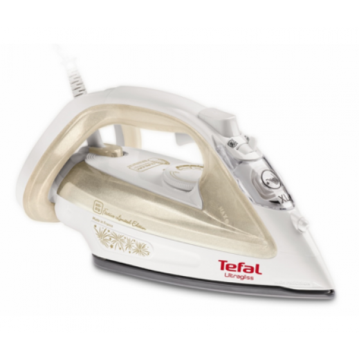 Tefal Steam Iron Ultragliss 2400 W - Gold & White