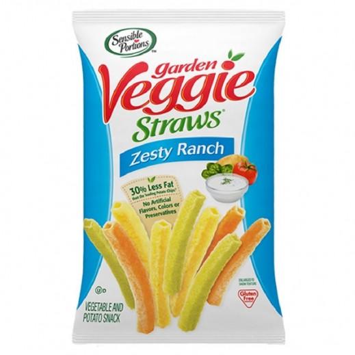 Sensible Portions Gluten Free Veggie Straws Zesty Ranch 120 g