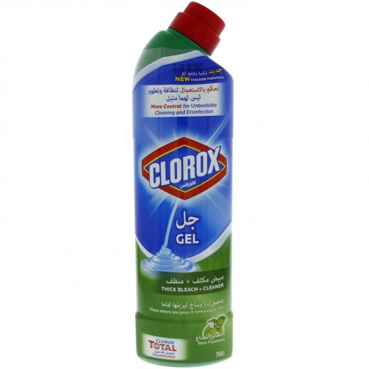 Clorox Gel Thick Bleach + Cleaner with Mint Freshness 750 ml
