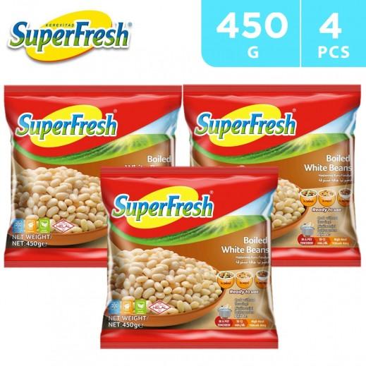 SuperFresh Frozen Boiled White Beans 4 x 450 g