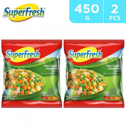 SuperFresh Frozen Peas Carrot Potato Mix 2 x 450 g