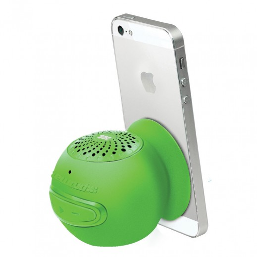 Promate Globo-2 Universal Wireless 3.0 Mini Speaker with In-Built Mic and Vacuum Base Green