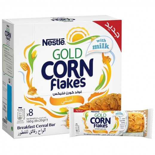 Nestle Gold Corn Flakes With Whole Grains Fitness Cereal Bar 8 x 20 g