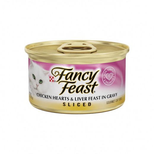 Fancy Feast Chicken Hearts & Liver Feast In Gravy, Sliced (Cats Food) 85 g