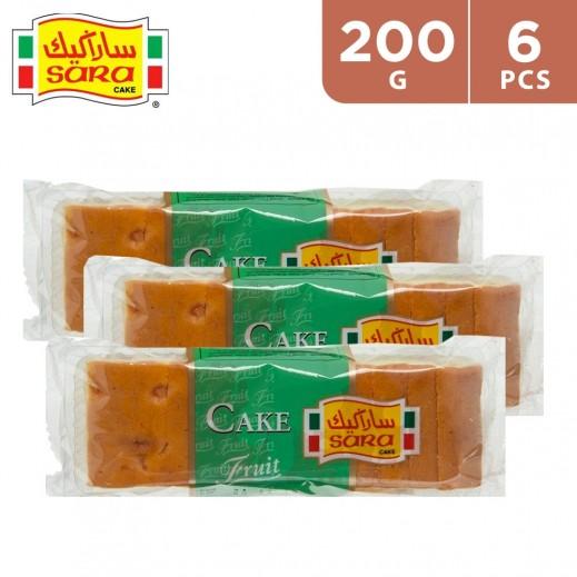Sara Cake Fruit Sliced Bar Cake 6 x 200 g