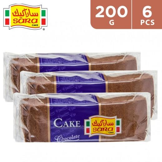 Sara Cake Chocolate Sliced Bar Cake 6 x 200 g