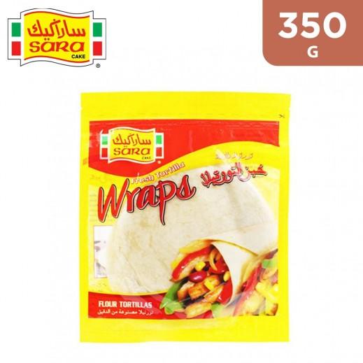 Sara Cake Fresh Flour Tortilla 8 Wraps 350 g