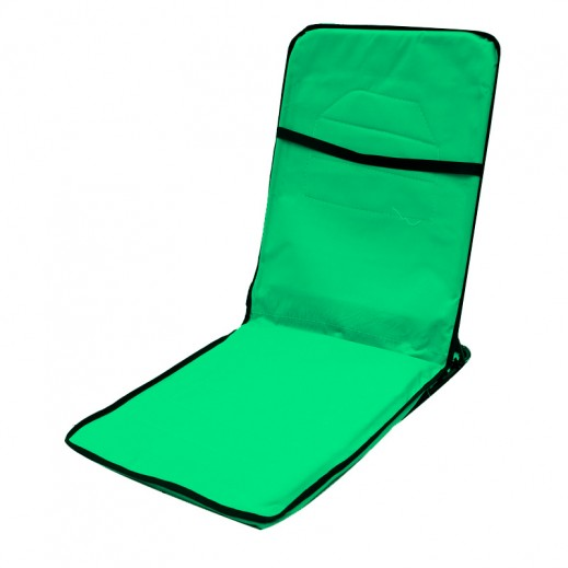 Foldable High Camp Floor Chair Green