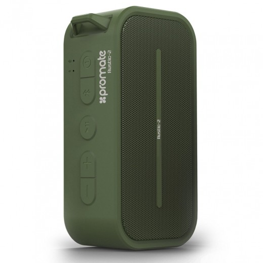 Promate Portable Water Resistant Wireless Speaker Green