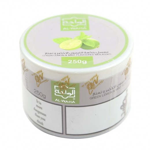 Al-Waha Green Lemon With Mint Flavoured Molasses Tobacco 250 g