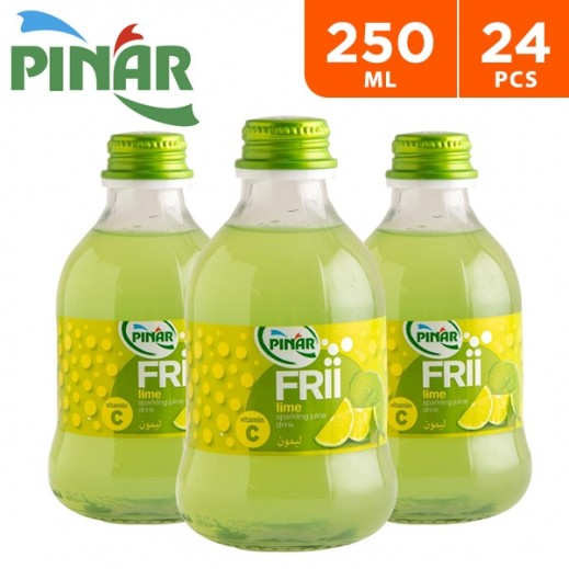 Pinar Frii Lime Sparkling Juice 24 x 250 ml