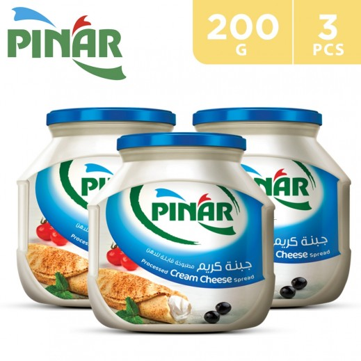 Pinar Cream Cheese Jar 3 x 200 g