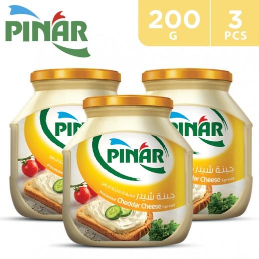 Pinar Cheddar Cheese 3 x 200 g