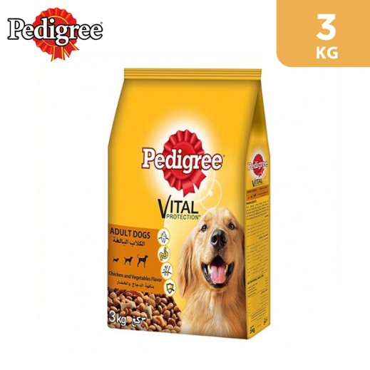 Pedigree Pets Food (Adult Dogs) Vital Protection-Chicken and Vegetable Flavor 3 kg
