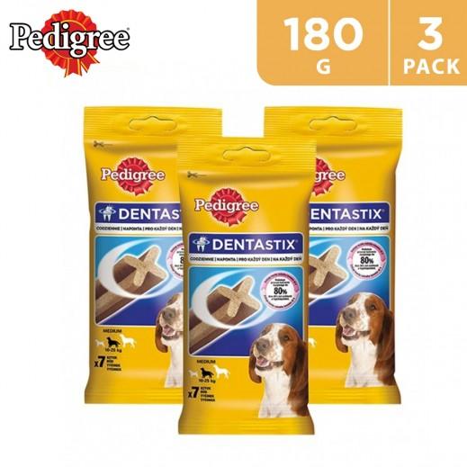 Pedigree Denta Stix Medium 7 Pieces 180 g (3 Packs)
