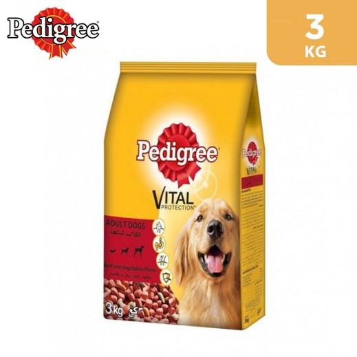 Pedigree Adult Beef Flavour Dog Food 3 kg