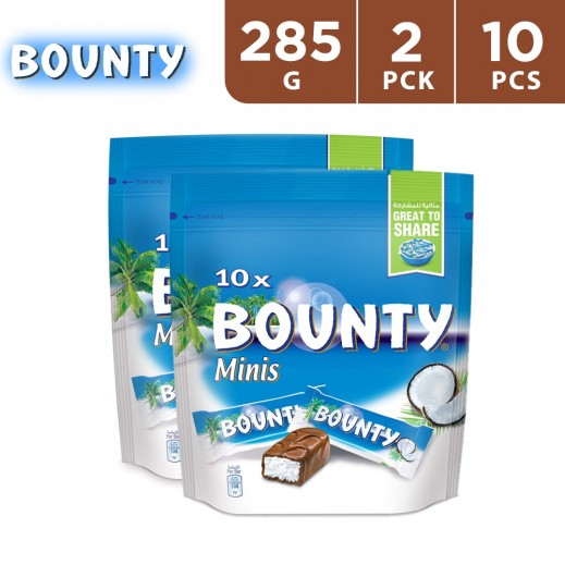 Bounty Minis 10's Chocolate 2 x 285 g