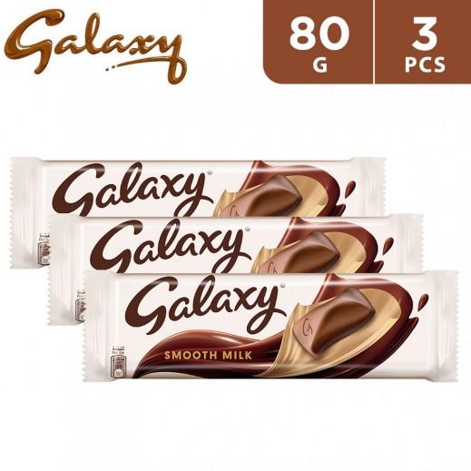 Galaxy Smooth Milk Chocolate 3 x 80 g