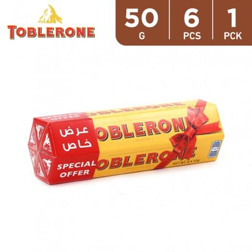 Toblerone Milk Chocolate with Honey & Almond 6 x 50 g