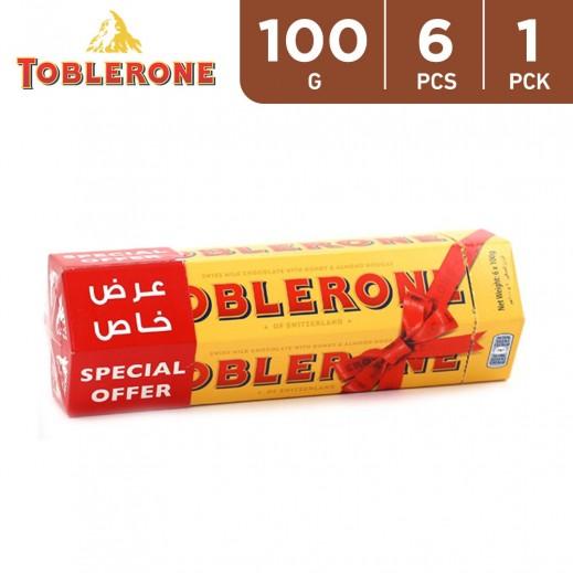 Toblerone Milk Chocolate with Honey & Almond 6 x 100 g