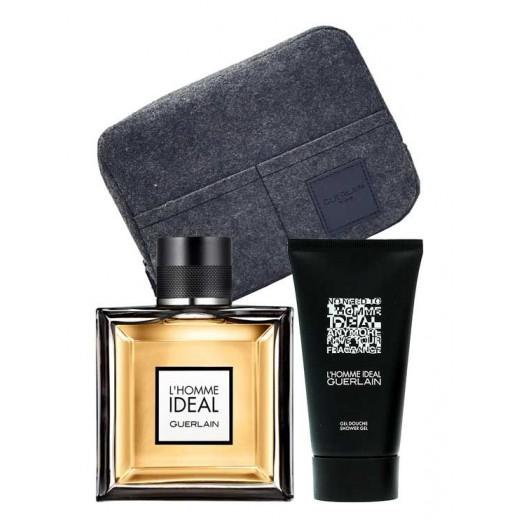 Guerlain L'Homme Ideal Gift Set For Him EDP 100 ml + Shower gel 75 ml + Bag