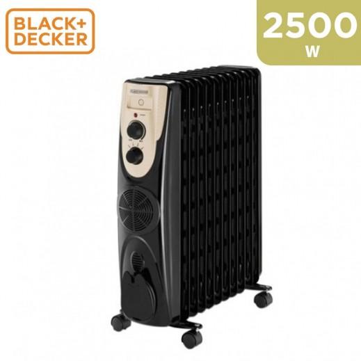 Black & Decker Oil Heater 13 Fins 2500W - Black