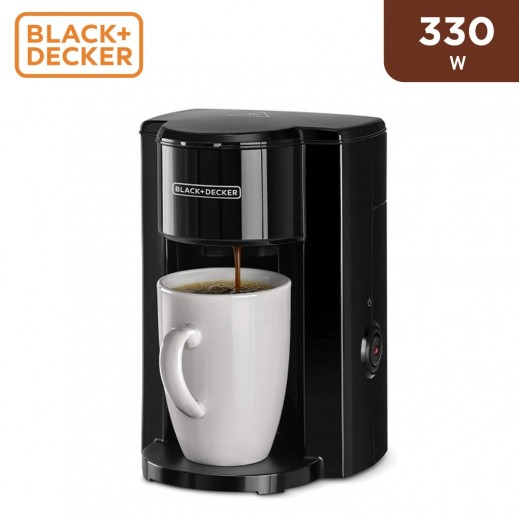 Black & Decker 330W Drip Espresso Coffee Maker 1 Cup - Black