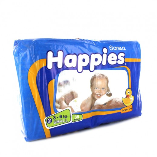Happies Small Dry Diapers 38 pieces