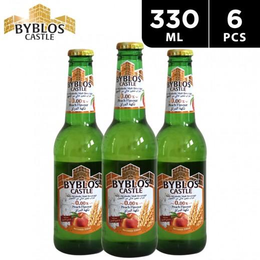Byblos Castle Peach Flavour Malt Beverage 6 x 330 ml