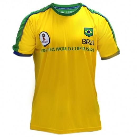 Fifa World Cup Russia 2018 Men Brazil T-shirt Small-XXLarge