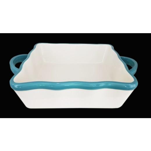 Ceramic Baking Tray Square - Blue