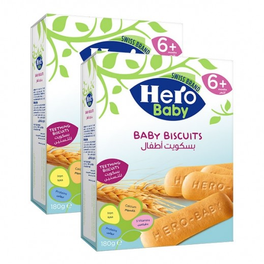 Hero Baby Teething Biscuits (6+ Months) 2 X 180 g