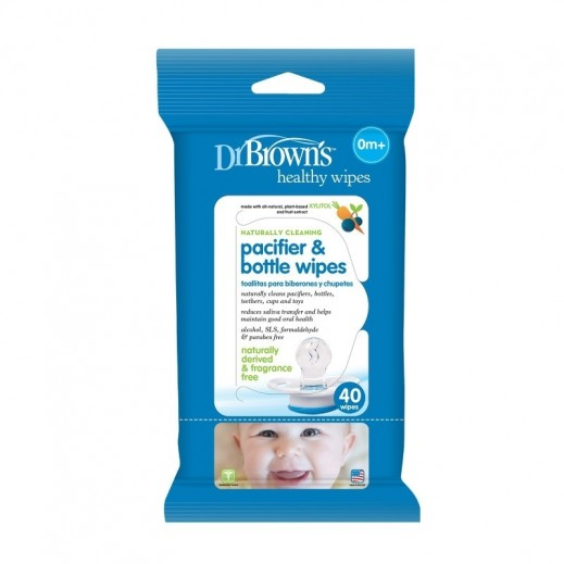 Dr. Brown's Pacifier & Bottle Wipes 40 Pieces