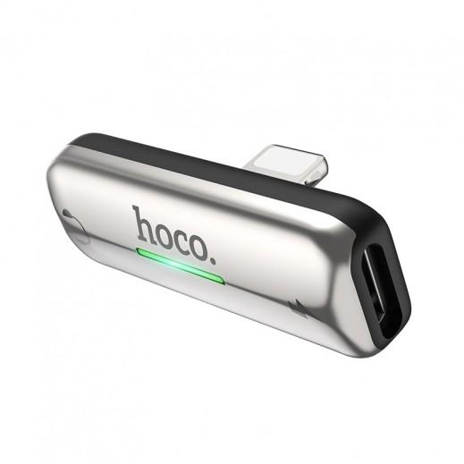 Hoco LS27 Dual Lightning Adapter - Gray