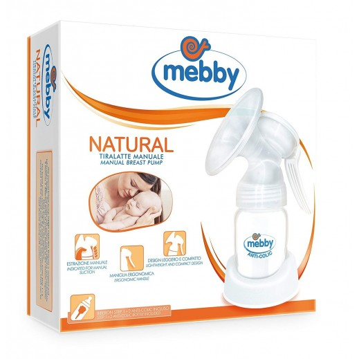Mebby Natural Manual Breast Pump  # 95014 - delivered by Al Essa After 2 working Days