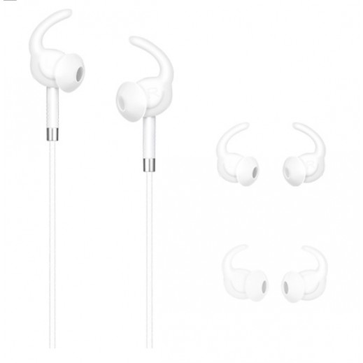 Hoco Wired Earphones with Microphone - White