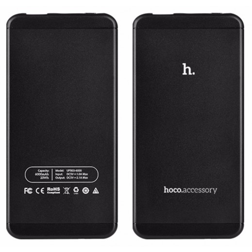 Hoco Power Bank 6,000 mAh - Black