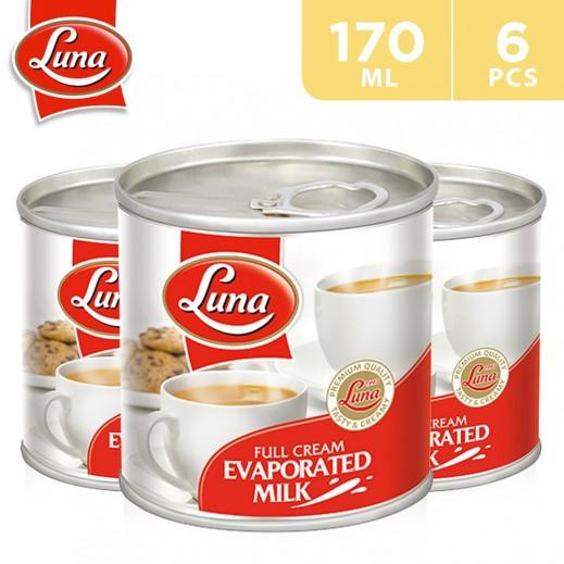 Luna Full Cream Evaporated Milk 6 x 170 ml
