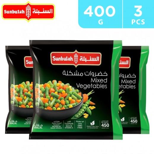 Sunbulah Frozen Mixed Vegetables 3 x 450 g