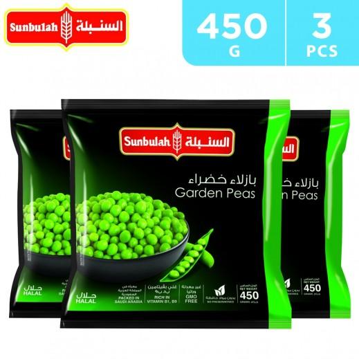 Sunbulah Frozen Garden Peas 3 x 450 g